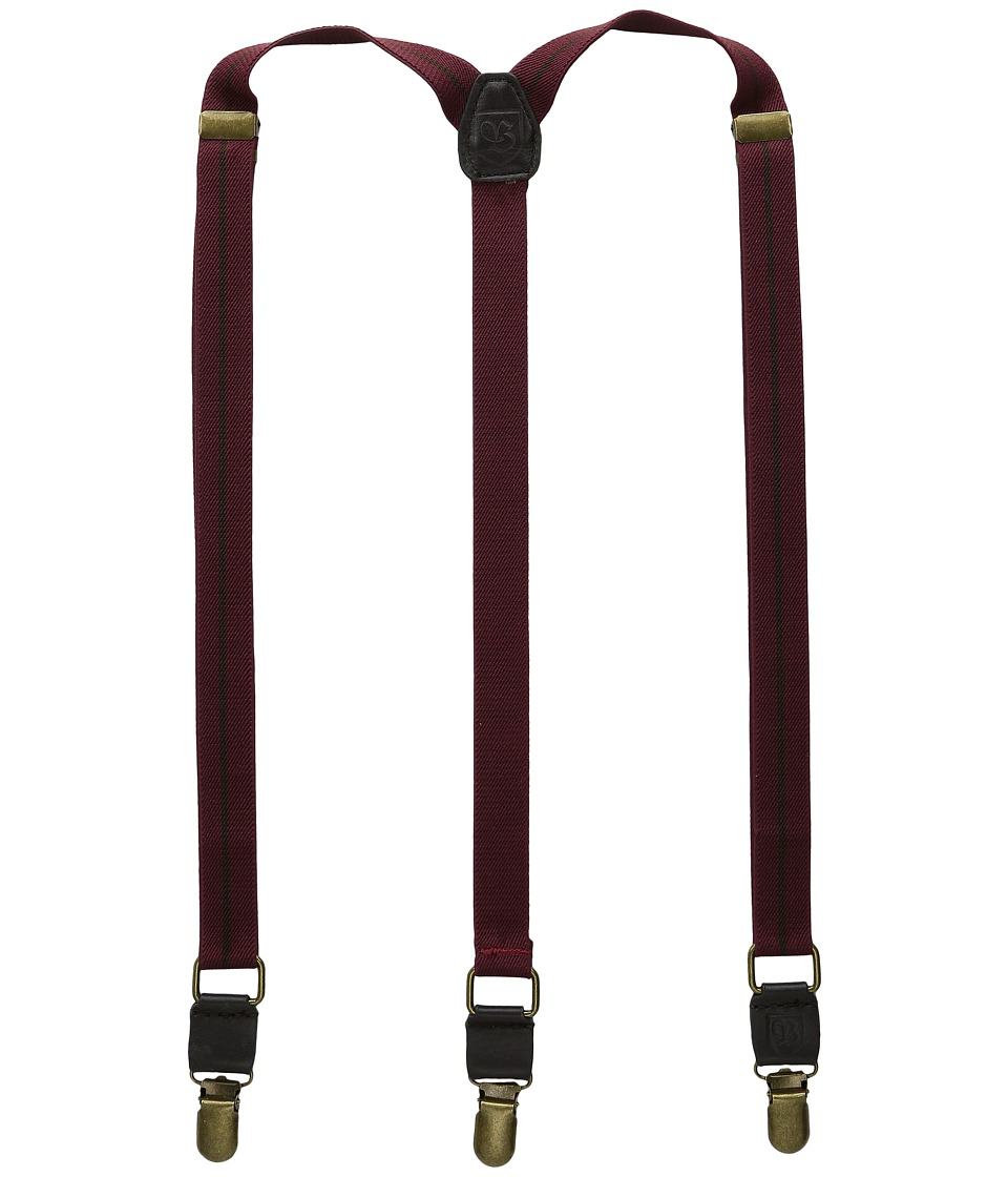 Brixton - Preston Braces (Burgundy) Men's Belts