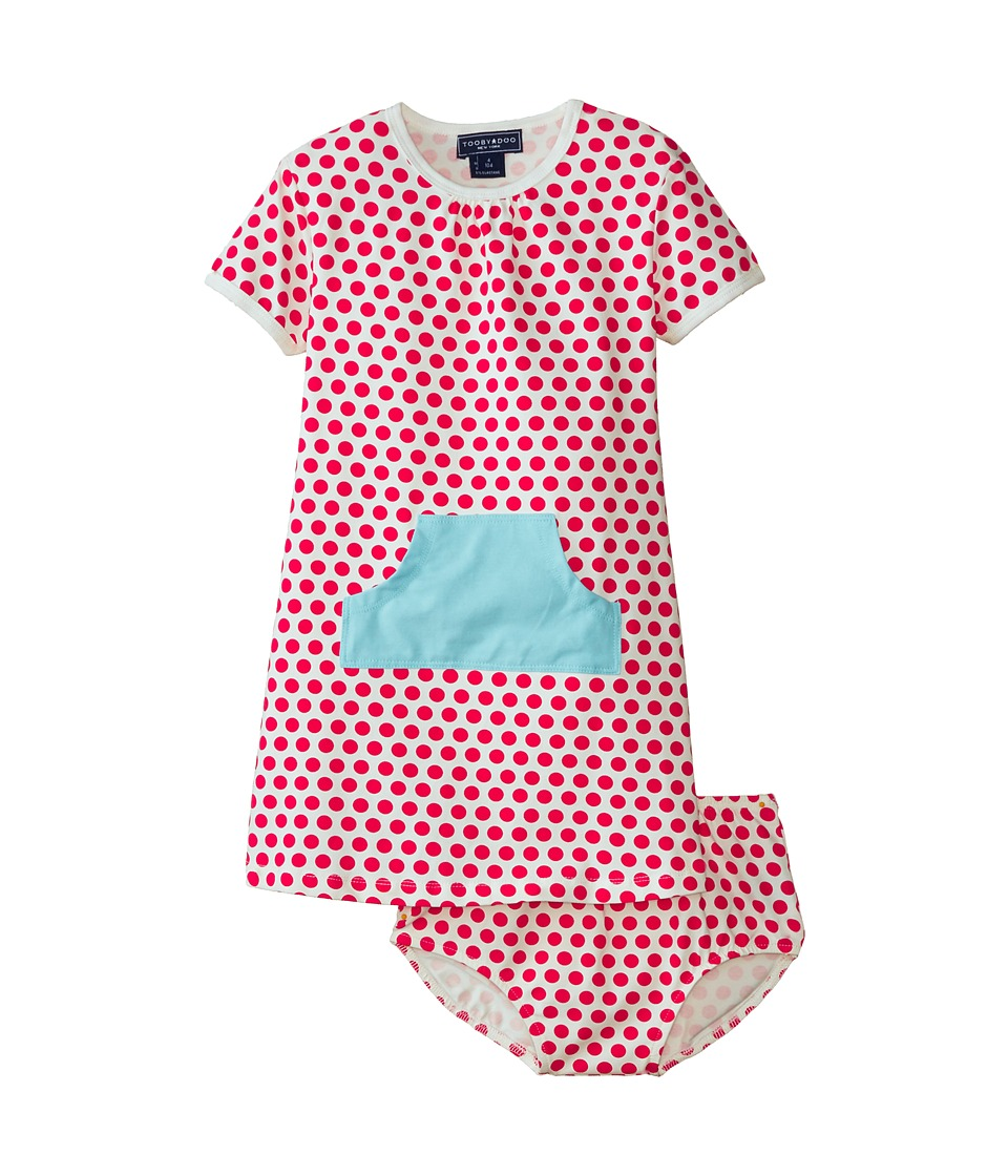 Toobydoo - The Diane Pocket Dress (Infant/Toddler) (Red) Girl's Dress