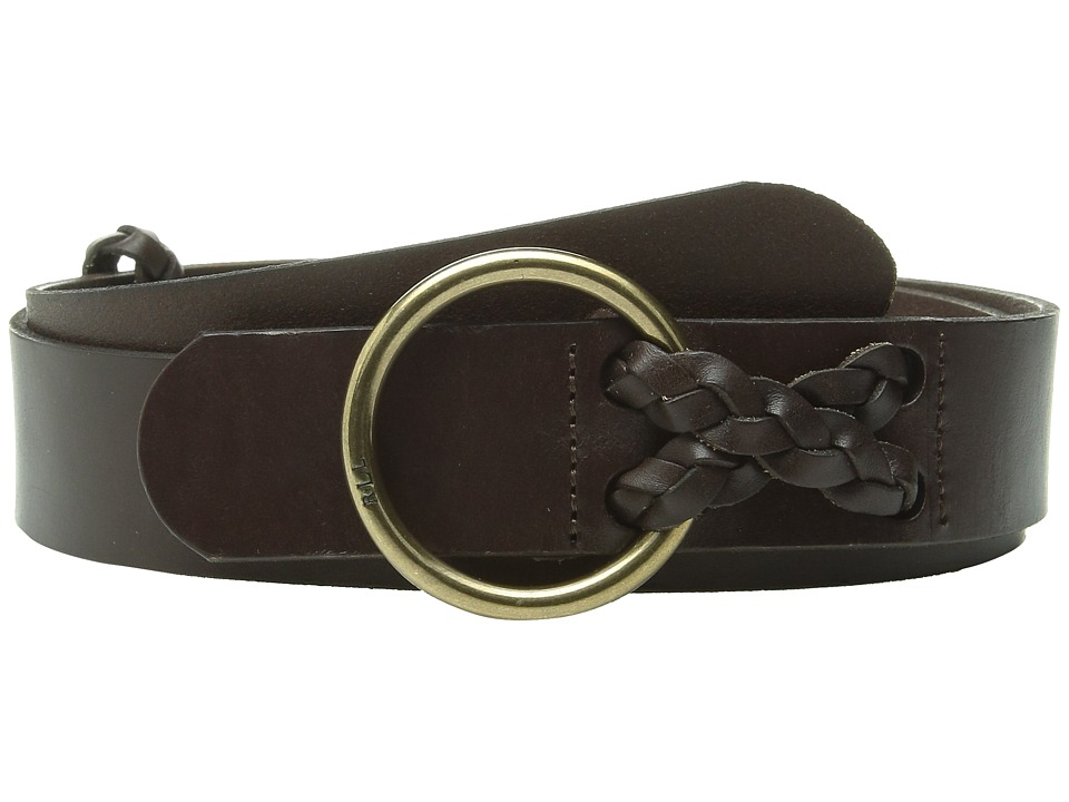 LAUREN Ralph Lauren - Classics 1 1/2 Veg Leather Equestrian (Burnished Brown) Women's Belts