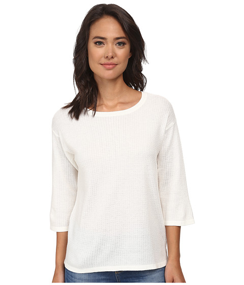 Anne Klein - 3/4 Sleeve Drop Shoulder Pullover (White) Women's Long Sleeve Pullover
