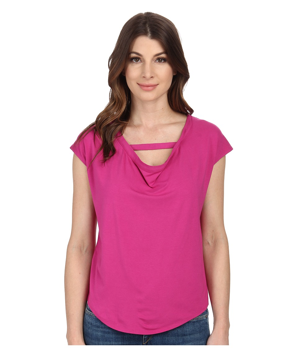 Anne Klein - Cowl Neck Tank Top (Fuchsia) Women