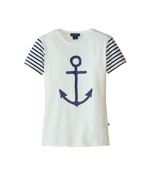 Toobydoo - The Anchor Tee (Toddler/Little Kids/Big Kids) (Blue White) Girl
