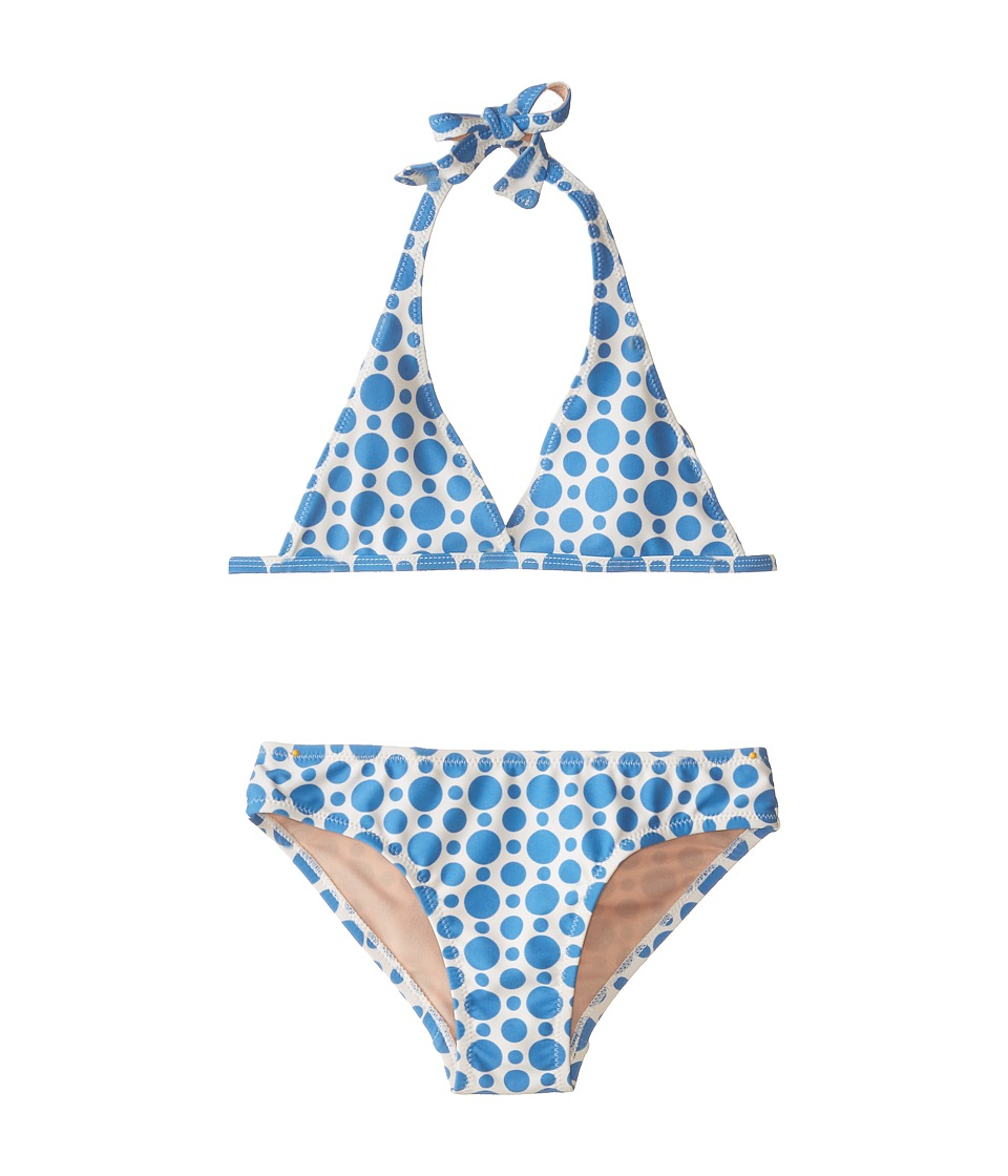 Toobydoo - The Sabrina Dot Bikini (Infant/Toddler/Little Kids/Big Kids) (Blue) Girl's Swimwear Sets