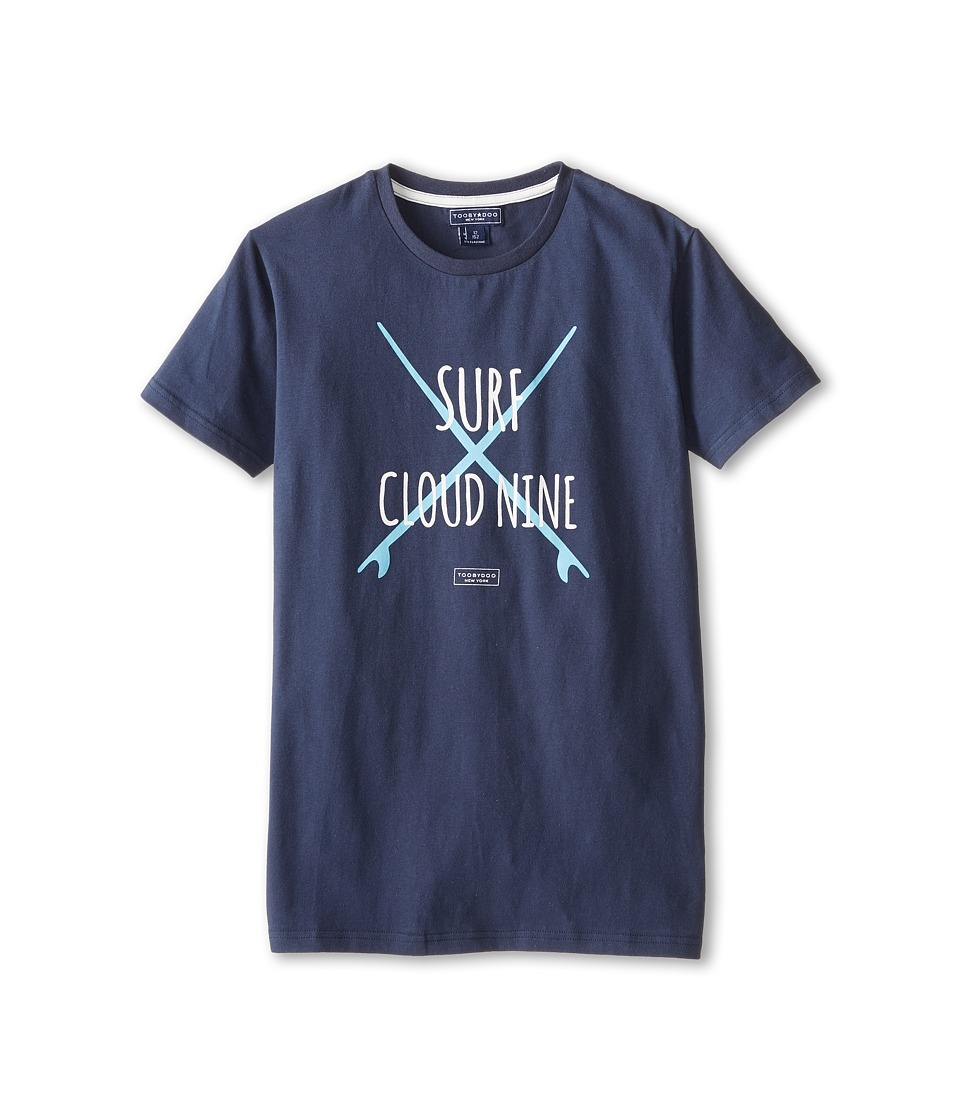 Toobydoo - Surf Tee Cloud Nine (Infant/Toddler/Little Kids/Big Kids) (Navy) Boy's T Shirt