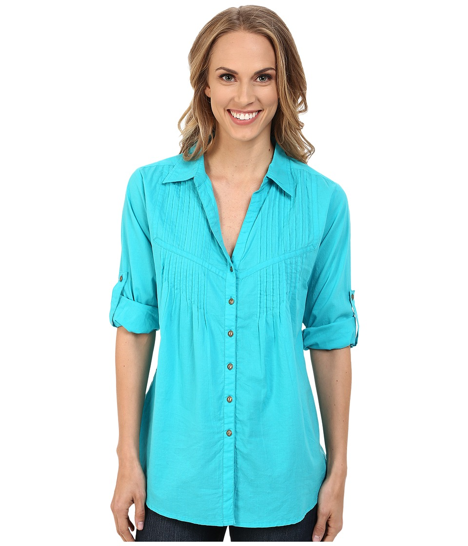 Roper - 0137 Turquoise Cotton Blouse (Blue) Women's Blouse