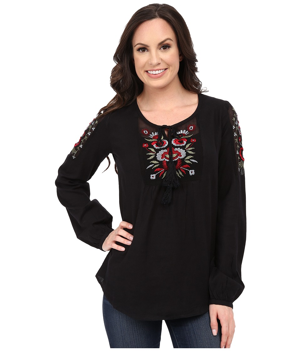 Roper - 0142 Cotton Twill Blouse (Black) Women's Blouse