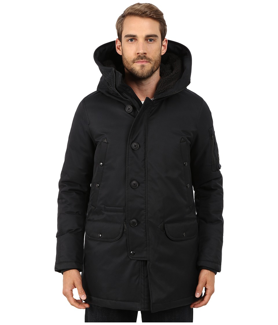 Spiewak - N3-B Tech Aviation Snorkel SPMOW0004FAC02 (Caviar) Men's Coat