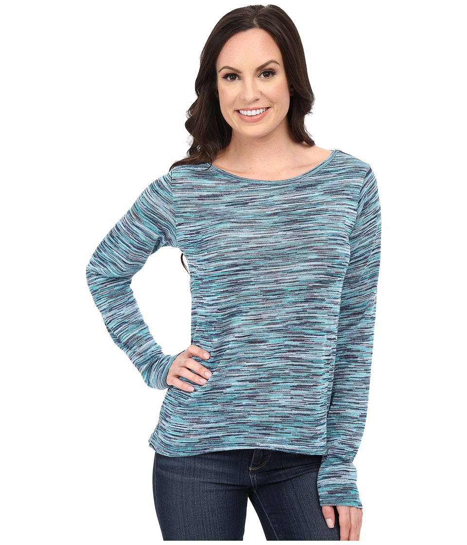 Roper - 0156 Marbled Sweater Jersey Top (Blue) Women's Sweater