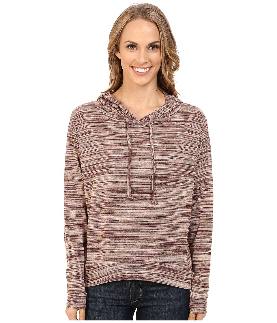 Roper - 0156 Marbled Sweater Jersey Hooded Top (Brown) Women's Sweater