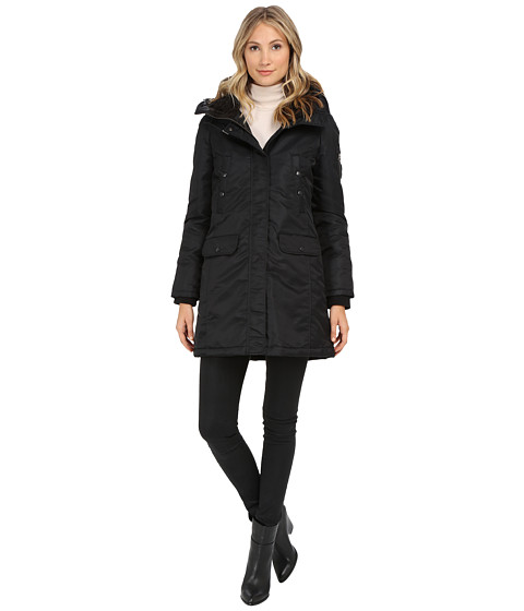 Spiewak - Flight Satin Snorkel Parka No Fur SPFOW0065FFS03 (Caviar/Black) Women