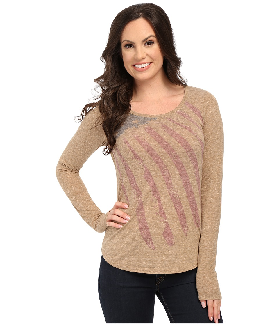Roper - 9917 Heather Jersey Tee (Tan) Women