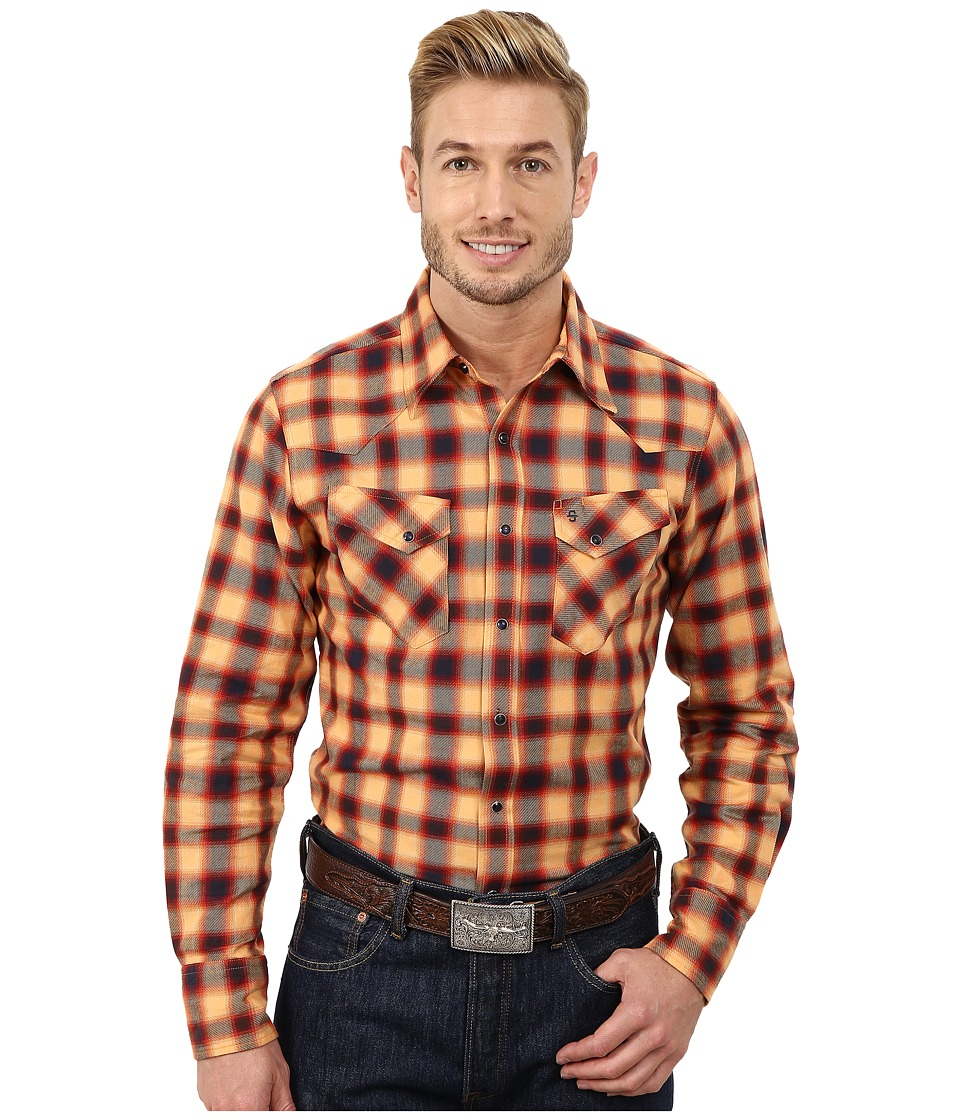 Stetson - Rugged Twill Check (Orange) Men's Clothing