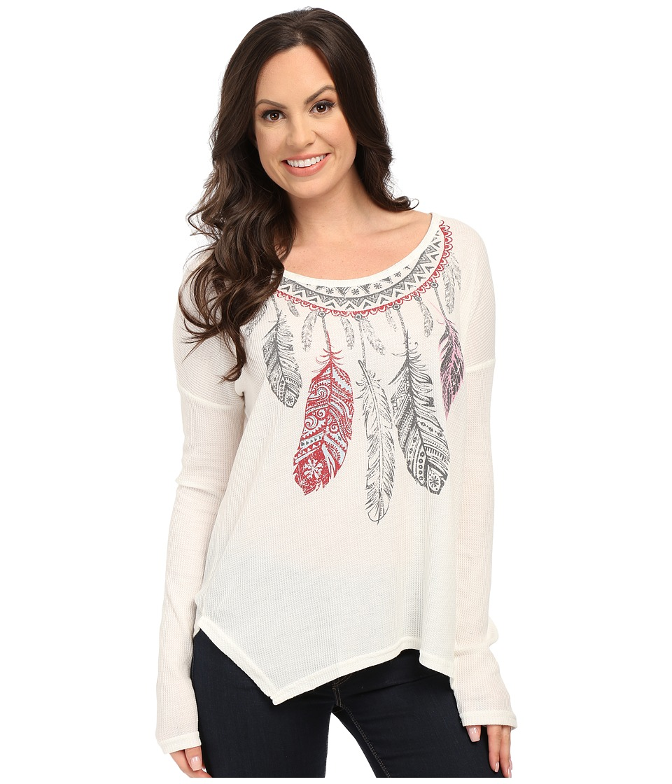 Roper - 9919 Thermal Knit Top (White) Women's Clothing
