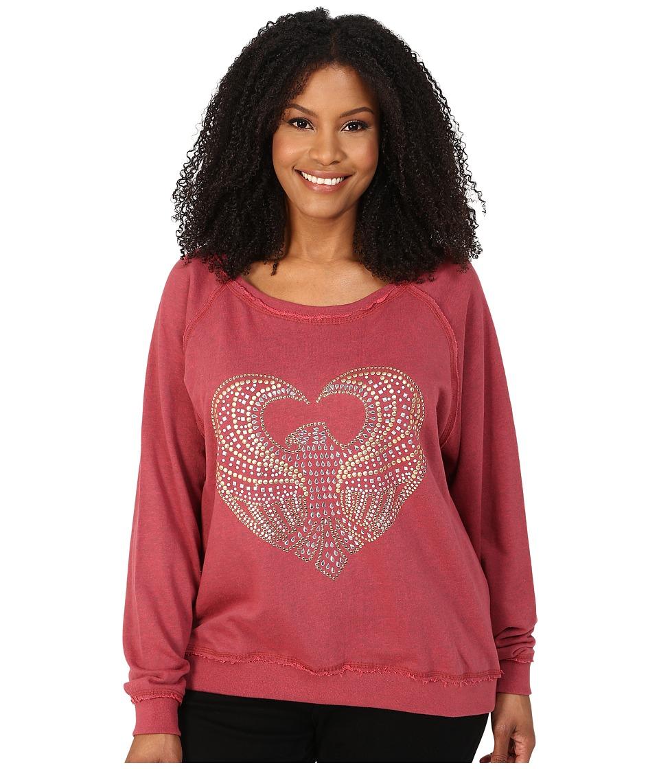 Roper - Plus Size 9920 Light Weight French Terry Sweatshirt (Red) Women