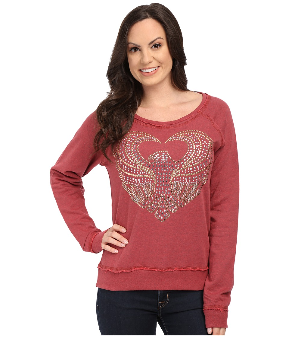 Roper - 9920 Light Weight French Terry Sweatshirt (Red) Women's Sweatshirt