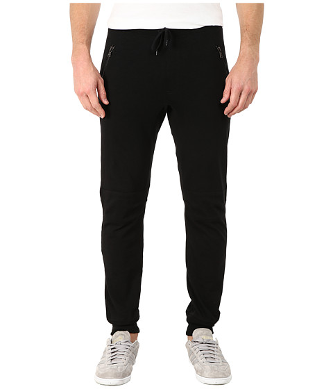 John Varvatos Star U.S.A. - Moto Biker Knit Pants (Black) Men