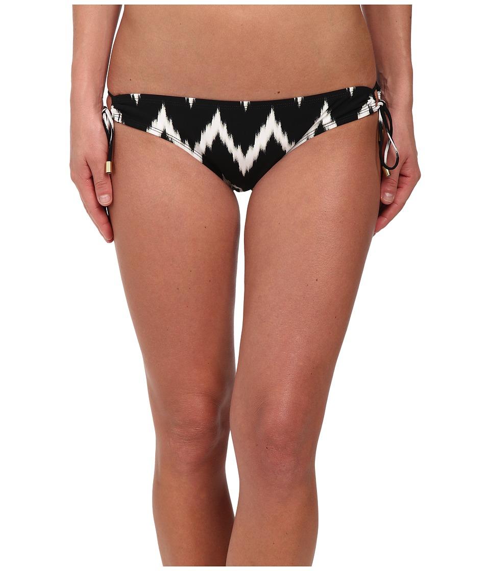 La Blanca Night Waves Loop Side Hipster Bottoms (Black/White) Women