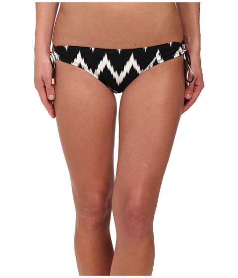 La Blanca - Night Waves Loop Side Hipster Bottoms (Black/White) Women's Swimwear