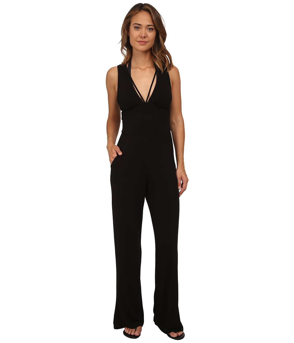 La Blanca - Passport to Paradise Jumpsuit Cover-Up (Black) Women's Jumpsuit & Rompers One Piece