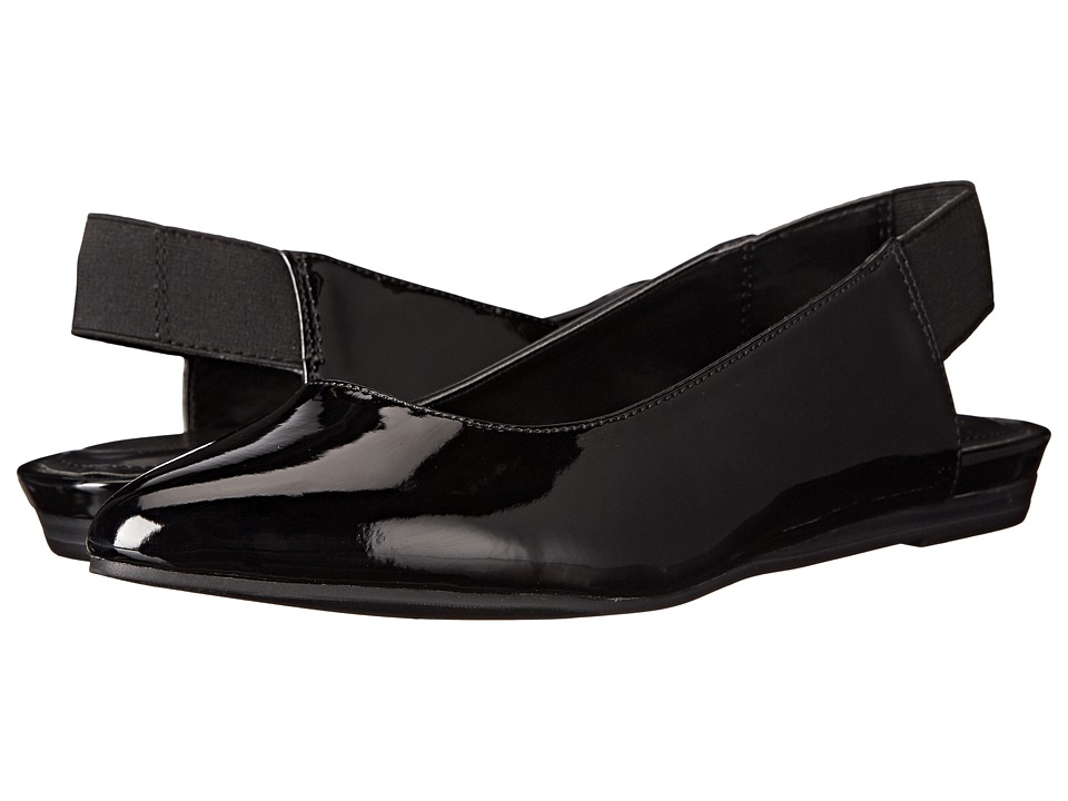 Kenneth Cole Reaction Step Sling (Black Patent) Women