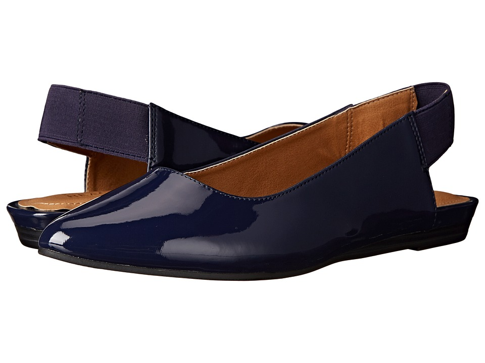 Kenneth Cole Reaction - Step Sling (Navy Patent) Women