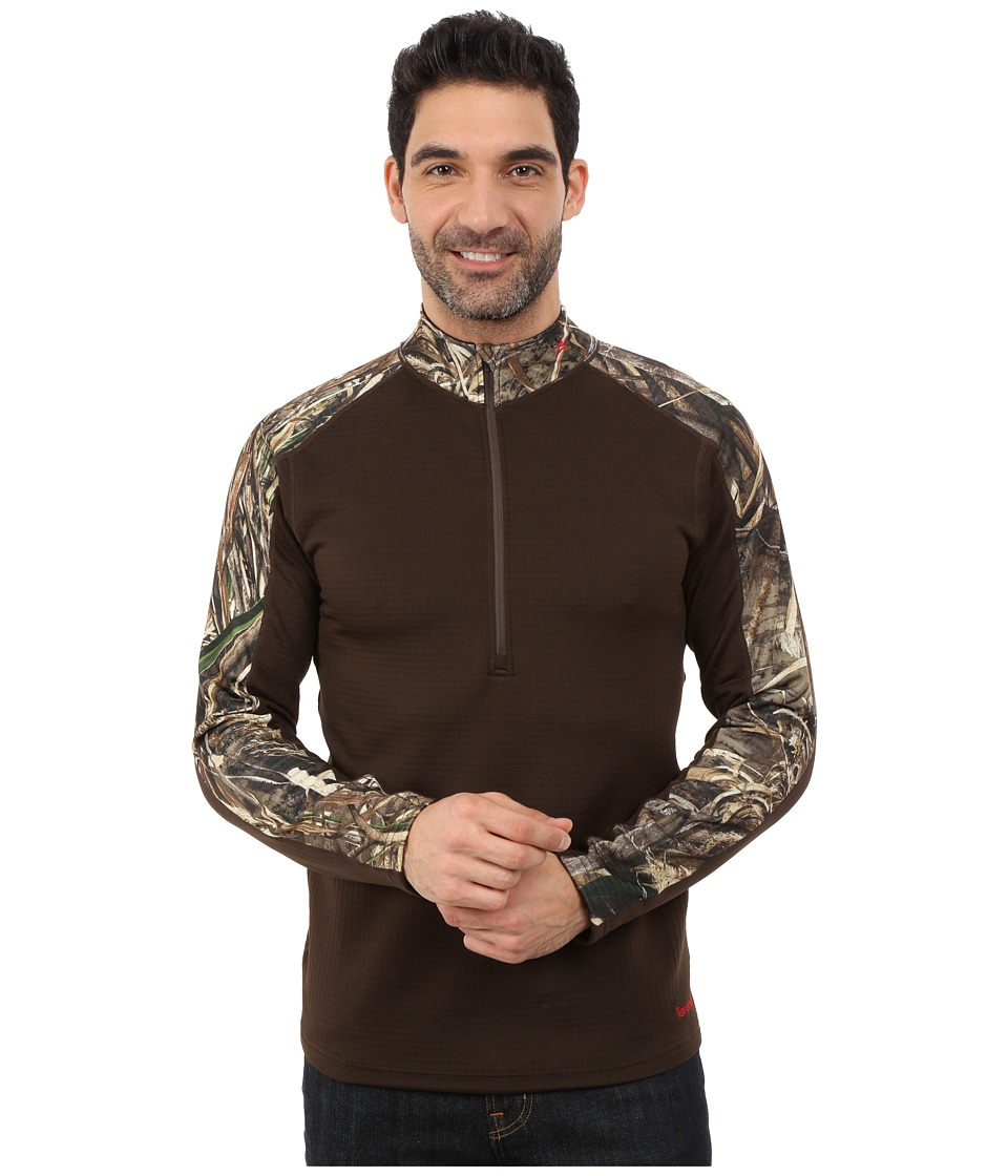 Terramar - 4.0 Predator II Quarter Zip (Realtree Max 5/Bison Brown) Men's Long Sleeve Pullover