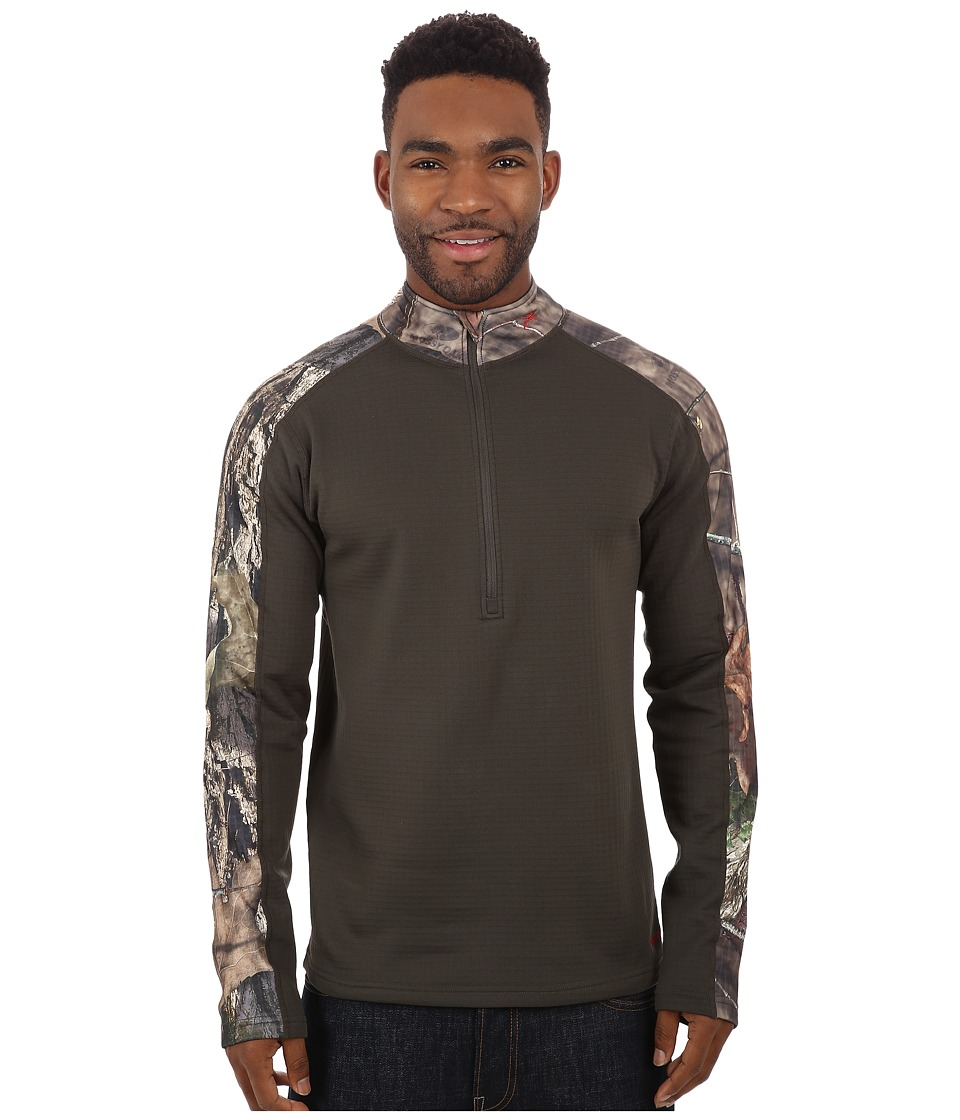 Terramar - 4.0 Predator II Quarter Zip (Mossy Oak Break-Up Country/Dark Loden) Men's Long Sleeve Pullover