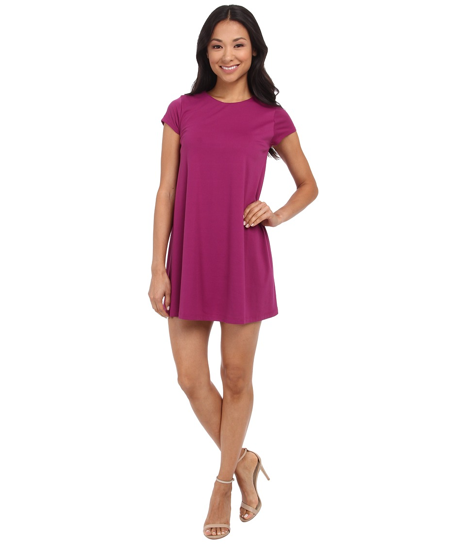 Susana Monaco - Crew Drape Dress/Tunic (Raspberry Jam) Women's Dress