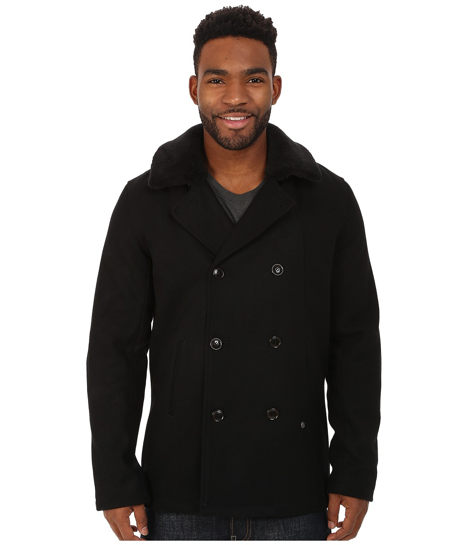 Volcom - Thames Peacoat (Black) Men's Coat