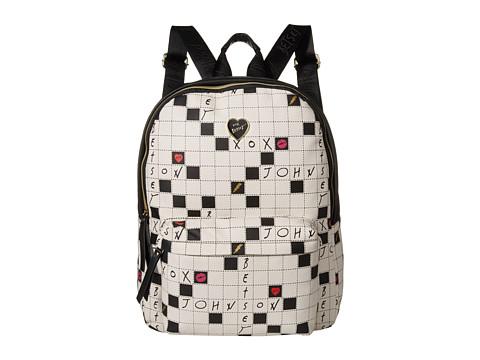 Betsey Johnson - Zip Around Backpack (Black/White) Bags