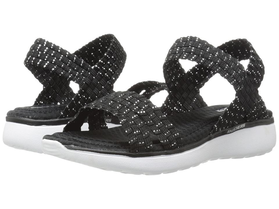 SKECHERS - Counterpart Breeze - Warp (Black/Silver) Women's Sandals