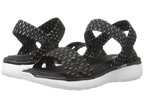 SKECHERS - Counterpart Breeze - Warp (Black/Silver) Women's Sandals