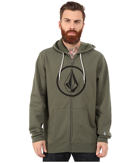 Volcom - Stone Zip (Old Blackboard) Men's Sweatshirt