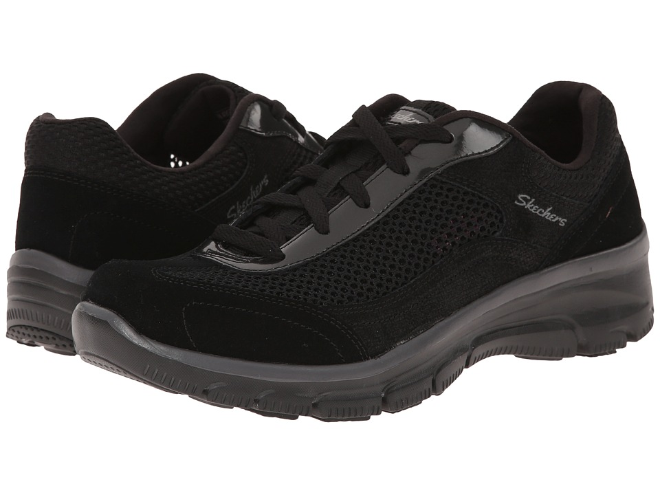 SKECHERS - Easy Going - Breeze Way (Black) Women's Shoes