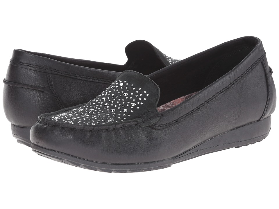 SKECHERS - Rome (Black) Women's Slip on Shoes