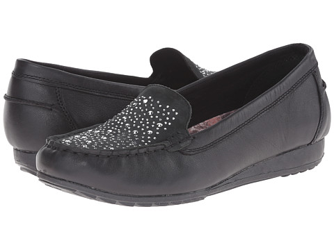 SKECHERS - Rome (Black) Women's Slip on Shoes