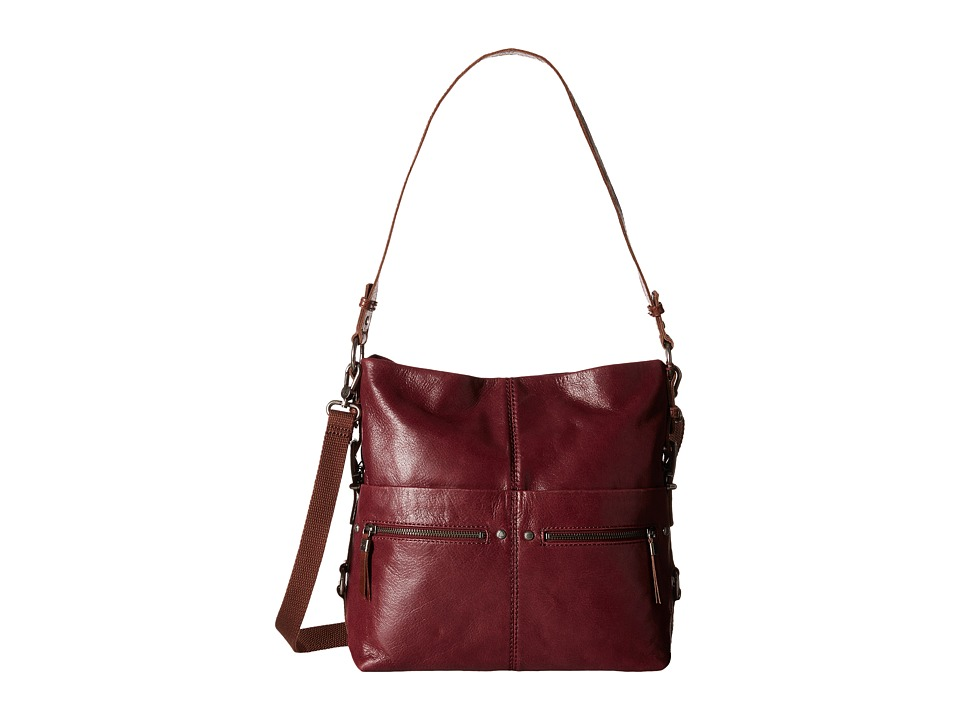 The Sak - Sanibel Bucket (Cabernet) Satchel Handbags