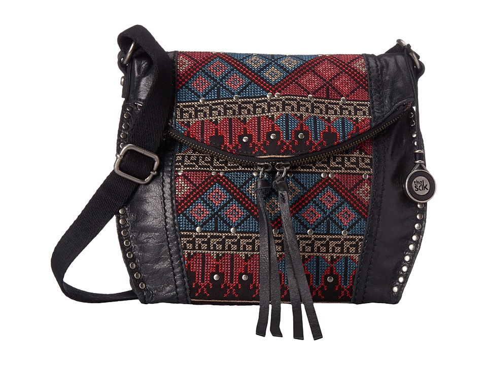 The Sak - Silverlake Crossbody (Black Cross Stitch) Cross Body Handbags
