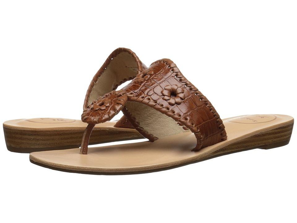 Jack Rogers - Cara Croco (Cognac) Women's Sandals