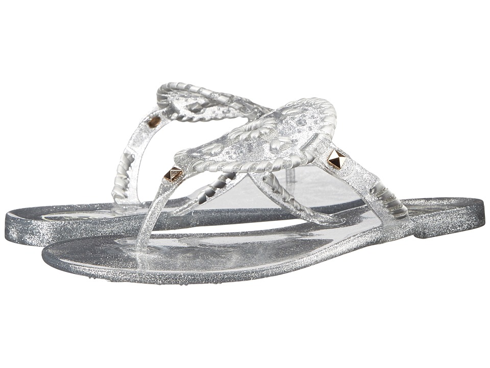 Jack Rogers - Sparkle Georgica Jelly (Silver) Women's Sandals