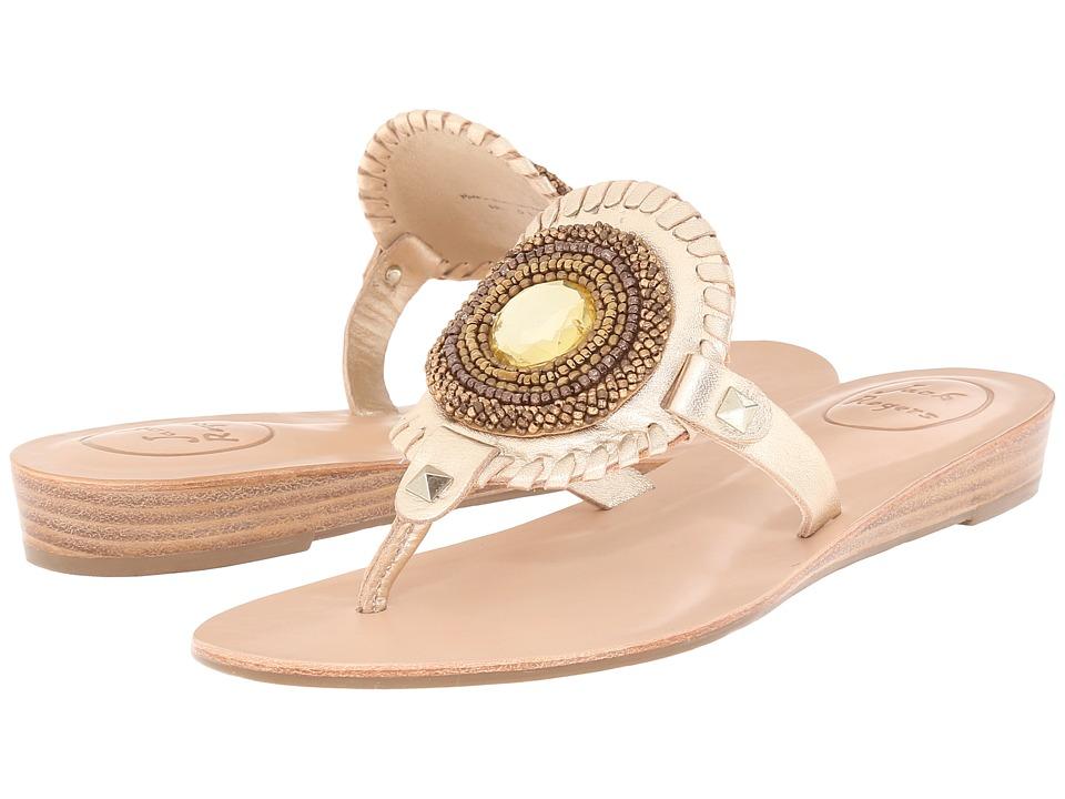 Jack Rogers - Gisele (Platinum) Women's Toe Open Shoes