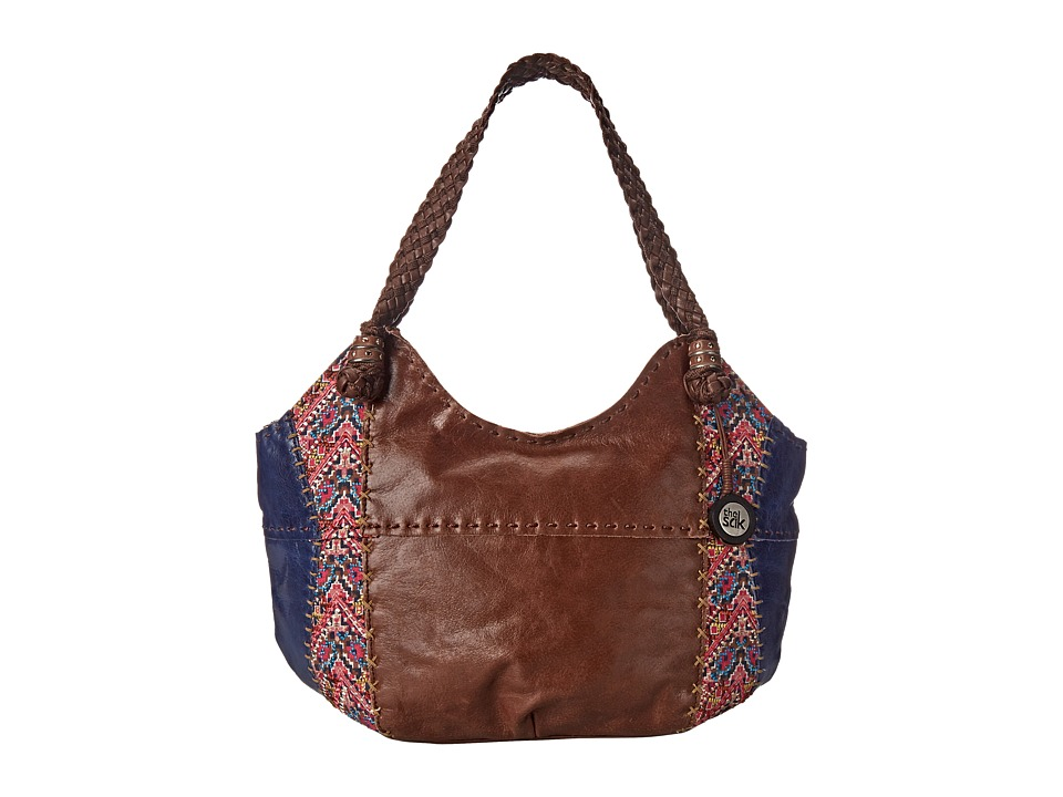 The Sak - Indio Satchel (Pink Embroidery) Shoulder Handbags