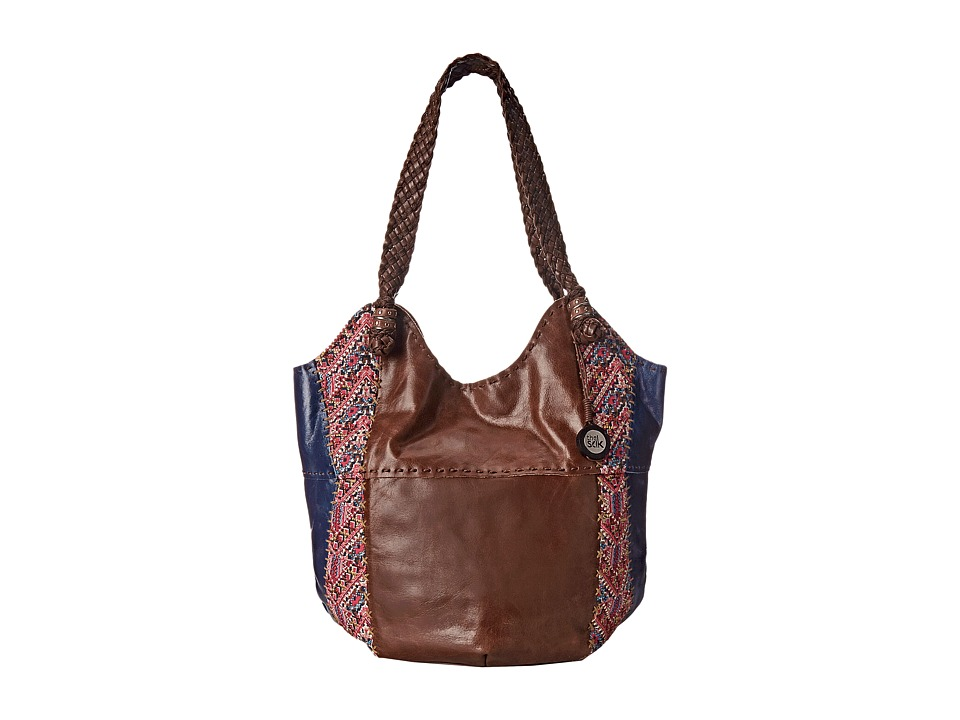 The Sak - Indio Large Tote (Pink Embroidery) Shoulder Handbags