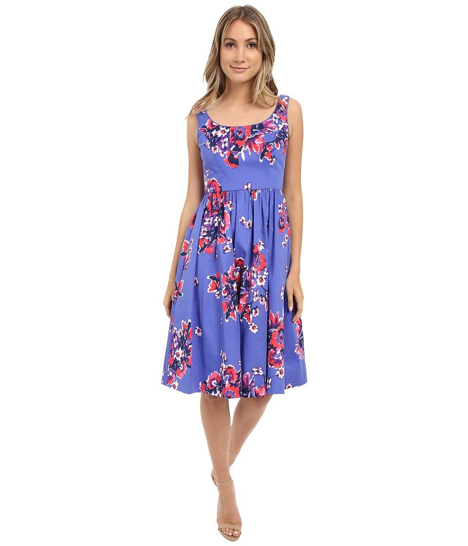Donna Morgan - Sateen Midi Length Tank Dress (Purple Multi) Women's Dress