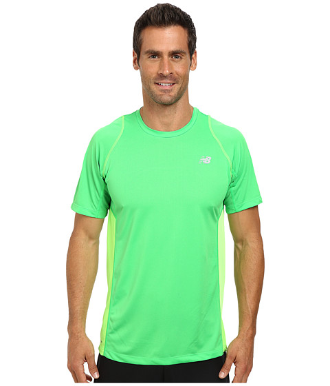 New Balance - Accelerate Short Sleeve (Acid/Chemical Green) Men's Short Sleeve Pullover