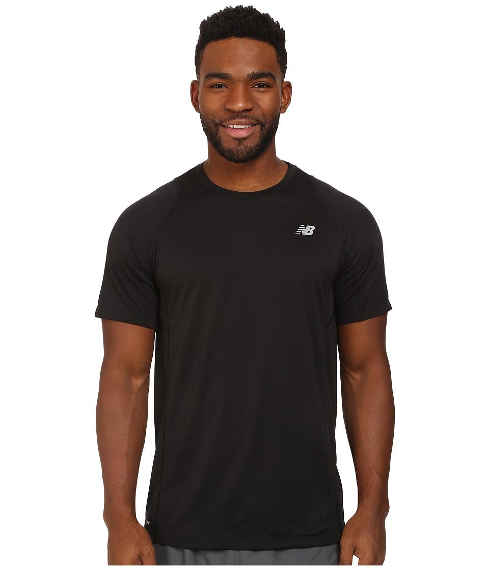 New Balance - Accelerate Short Sleeve (Black) Men's Short Sleeve Pullover