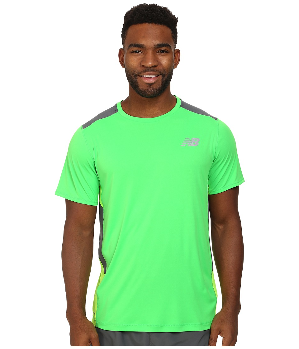 New Balance - Excel Race Day Short Sleeve (Acid/Chemical Green) Men
