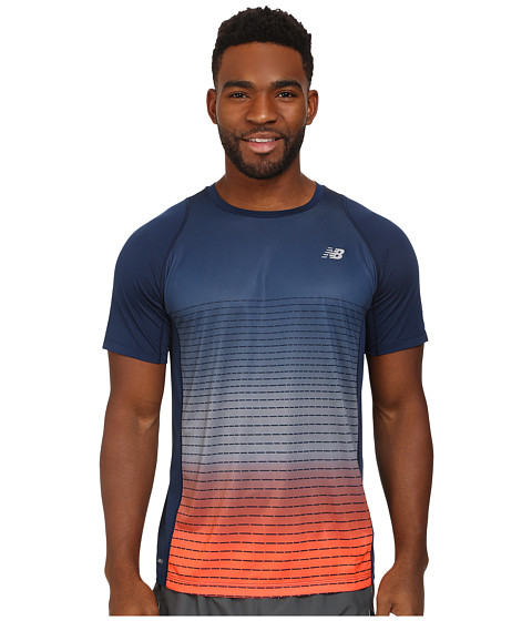 New Balance - Accelerate Short Sleeve Graphic Tee (Dark Sapphire) Men