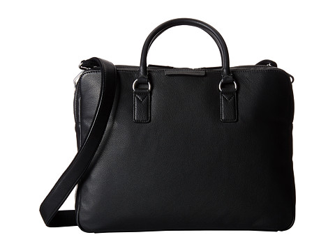 Marc by Marc Jacobs - Classic Leather Briefcase (Black 2) Briefcase Bags