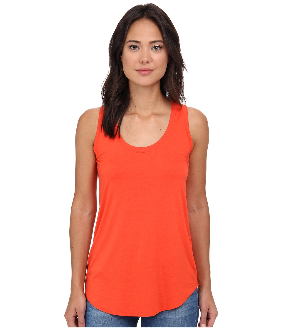 Three Dots - Lightweight Viscose Long Tank (Blaze) Women's Sleeveless